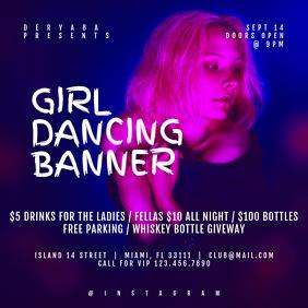 Girl Dancing Instagram Post Party Banner