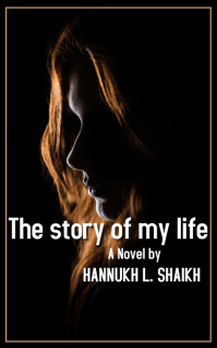 girl face autobiographical novel book Kindle-omslag template
