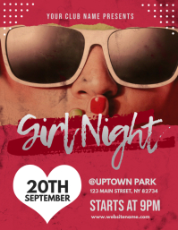 Girl Night Flyer