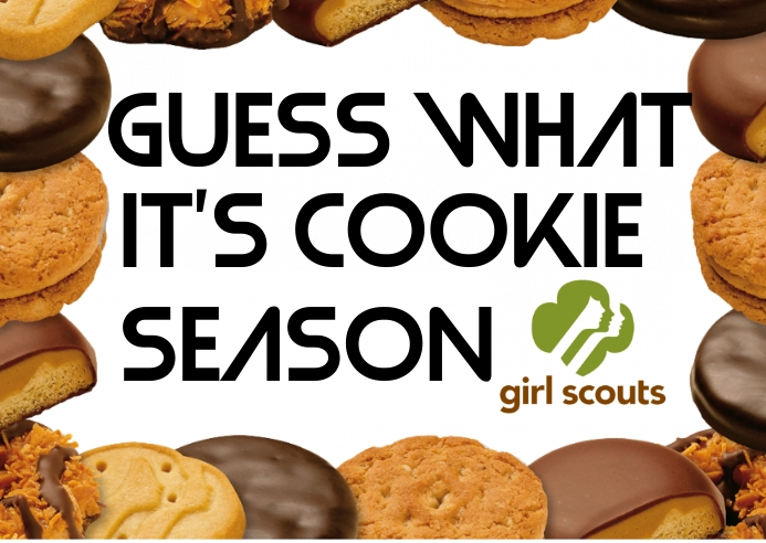 Girl Scout Cookies Postcard template