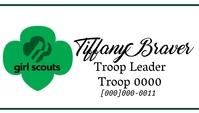 Girl Scout Cookies troop leader Business Card template
