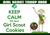 Girl Scout Troop cookie saled Cartolina template