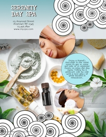 Girlfriends Day Spa Massage Flyer Template