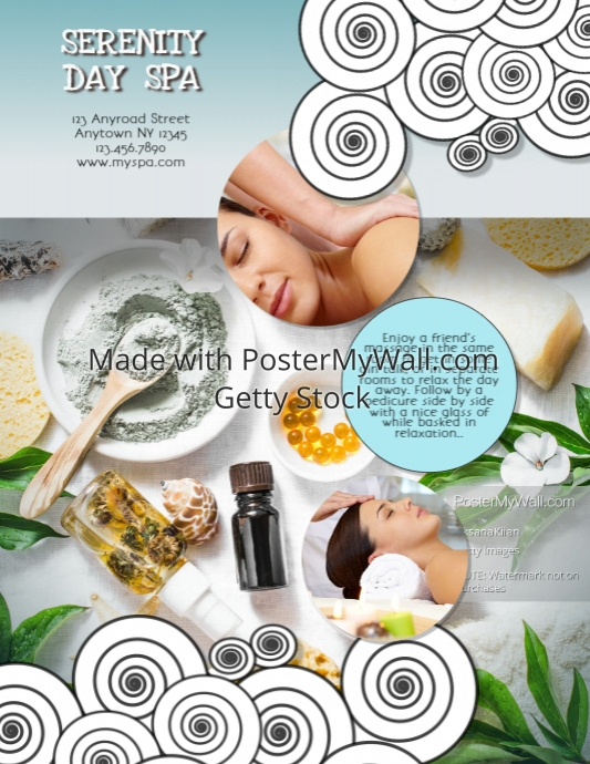 Girlfriends Day Spa Massage Flyer Template