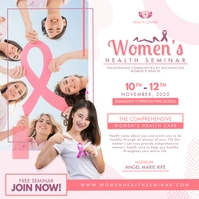 Girls' Health Conference Advertisement Publicación de Instagram template