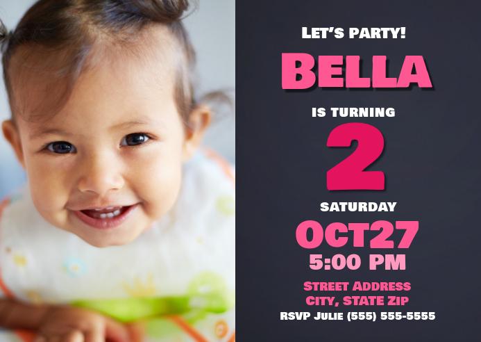 Girls Birthday Invitation