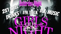GIRLS NIGHT Pantalla Digital (16:9) template