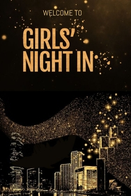 Girls Night In Welcome Sign
