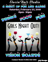 GIRLS NIGHT OUT TEMPLATE