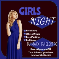 Girls night out Message Instagram template