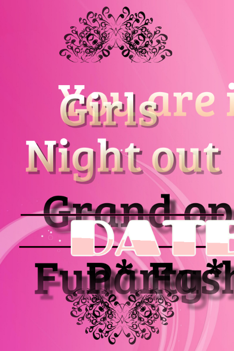Girls night out Cartaz template