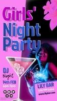 girls night party insta story