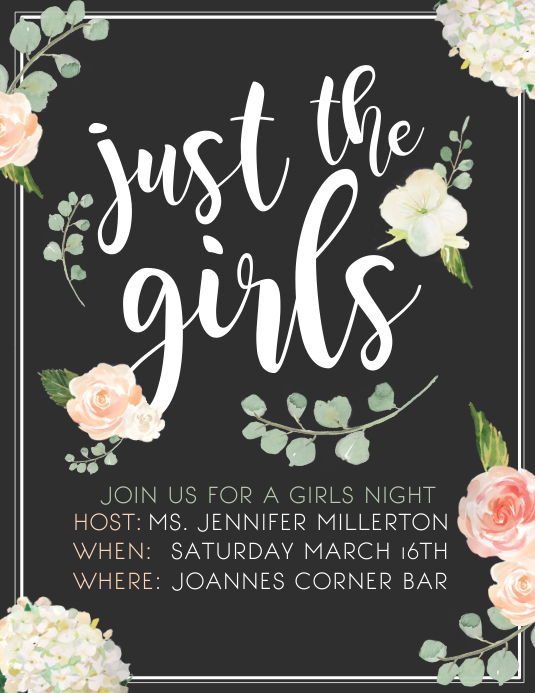 girls night template postermywall