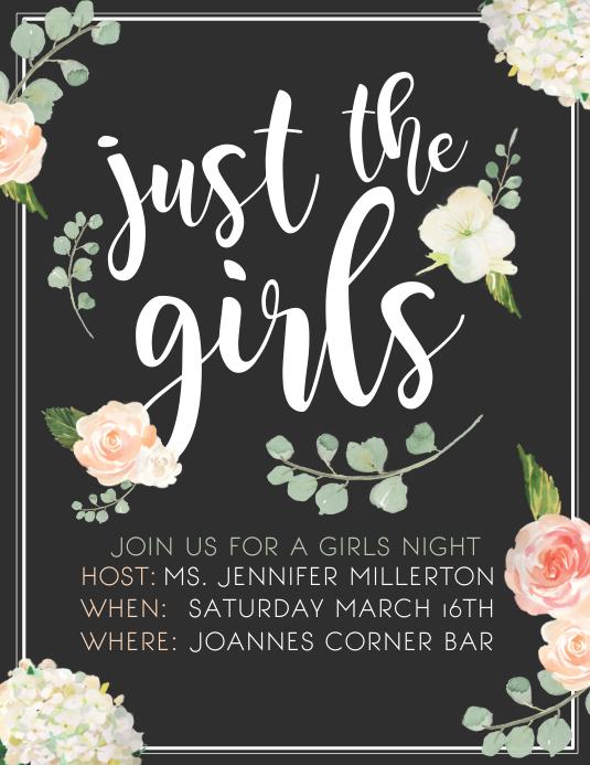 Girls night Flyer (US Letter) template