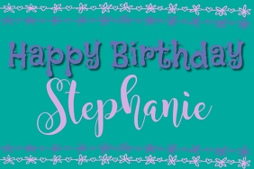 Girly Teal Birthday Banner