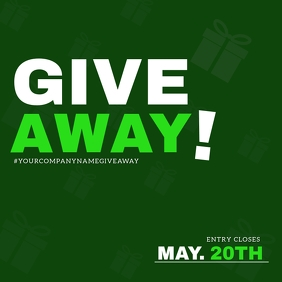 Give Away Competition Flyer Template Vierkant (1:1)