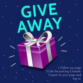 GIVE AWAY TEMPLATE Wpis na Instagrama