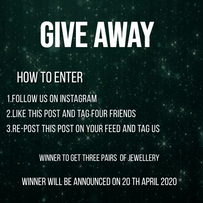 GIVE AWAY TEMPLATE Instagram Post