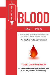 Give Blood Poster Template
