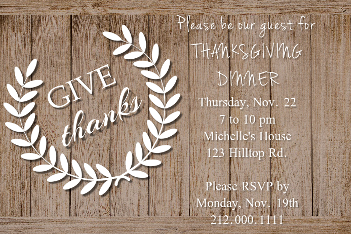 Give Thanks Invite