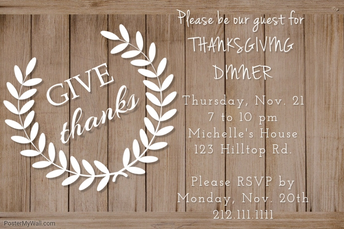 Give Thanks Invite Template | PosterMyWall