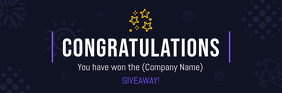 Giveaway Annoucement Email Header Intestazione e-mail template