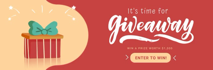 Giveaway Announcement Animated Email Header template