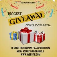 giveaway announcement Publicación de Instagram template