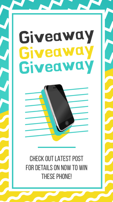 Giveaway Contest for Mobile Phone Instagram Story template