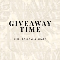 GIVEAWAY Fashion Instagram Post template