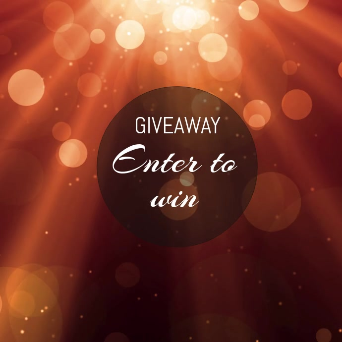 Giveaway instagram video flyer template