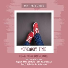 Giveaway Steps Instagram Post Template