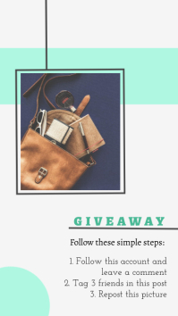 Giveaway Steps Instagram Story Template