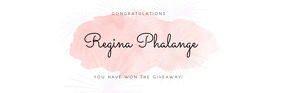 Giveaway winner announce email header template