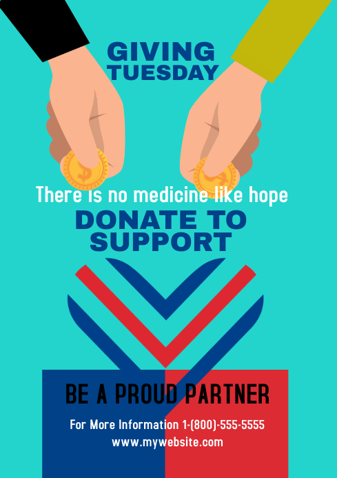 Giving Tuesday 5 A3 template