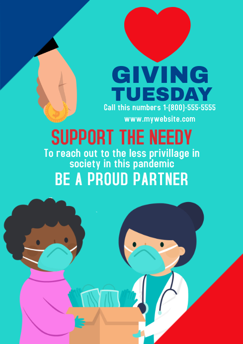 Giving Tuesday 8 A3 template