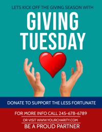 giving tuesday Flyer (US Letter) template