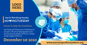 Giving Tuesday Facebook Event Header Template Facebook-Veranstaltungscover