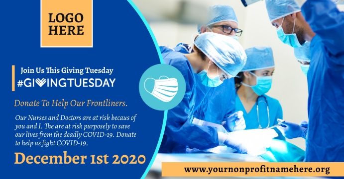 Giving Tuesday Facebook Event Header Template