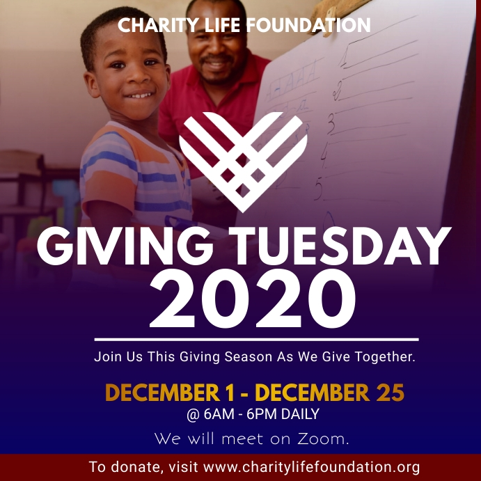 Giving Tuesday Fundraising Flyer Template 方形(1:1)