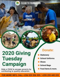 Giving Tuesday Fundraising Flyer Template