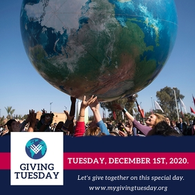 GivingTuesday Flyer Template Square (1:1)