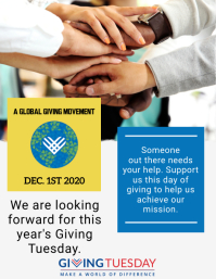 GivingTuesday Flyer Template Volantino (US Letter)