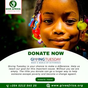 GivingTuesday Fundraising Flyer Template Kwadrat (1:1)