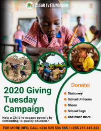 GivingTuesday Fundraising Flyer Template