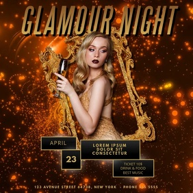 Glamour Gold Night Event Video Template for Instagram