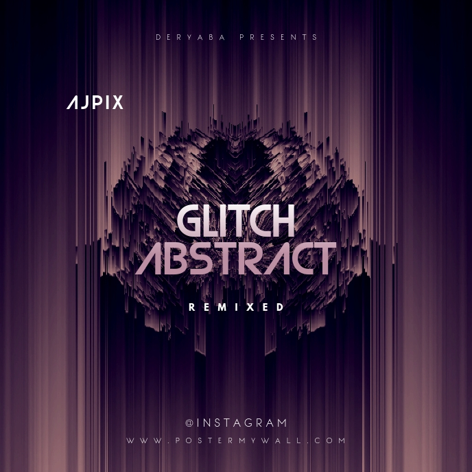 Glitch Abstract CD Cover