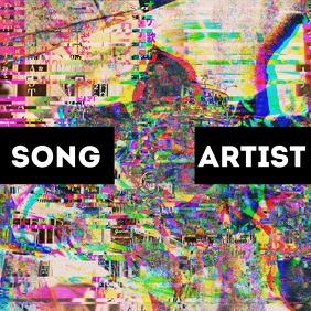 Glitch Photo Album Song Cover Okładka albumu template
