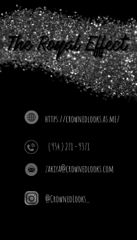 Glitter Contact Information Visitkort template