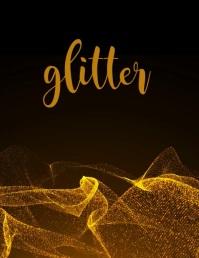 Glitter Folheto (US Letter) template